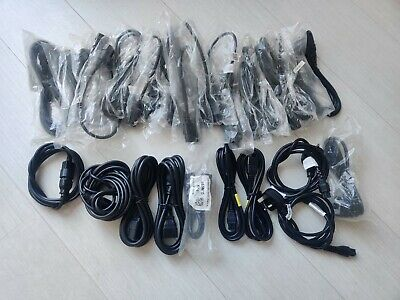 Joblot / Bundle Of 29 X Power Cable And Extensions Kettle Lead/ IEC C19 / Clover • 0.99£