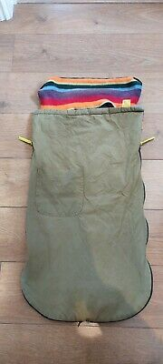 £25 • Buy Buggy Snuggle Foot Muff Olive Green And Rainbow Stripe