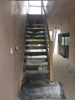 £2800 • Buy White Oak Open Tread Modern Staircase Including Glass Cost £4000 New