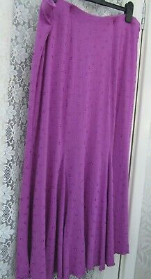 Lovely Per Una Magenta Pink Jersey Pull On Skirt With Godet Inserts Size 18 L35  • 9.50£