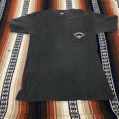 $ CDN13.81 • Buy Vintage HD Harley Davidson DBL Sided New Jersey Graphic Pocket Tee Size Medium