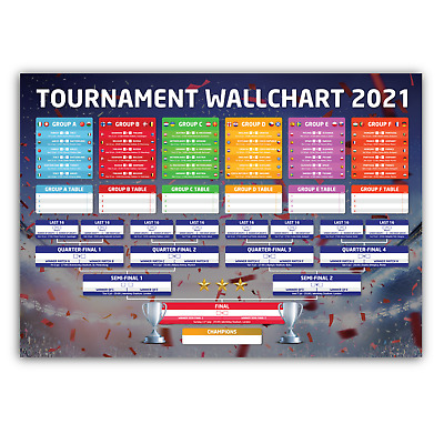 £5.99 • Buy Confetti Style Tournament Wallchart 2021 - Best Way To Track The Euros Schedule