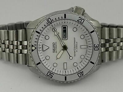 $ CDN74.11 • Buy Seiko Diver Submariner White Mod 7s26-0020 Skx007 Automatic Men Watch 984171