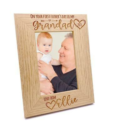 £11.99 • Buy Personalised First Fathers Day As A Grandad Photo Frame Portrait FW514