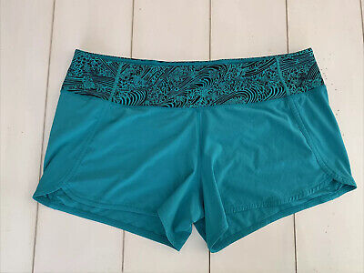 $ CDN56.49 • Buy Lululemon Women's Athletic Teal Shorts Size 12