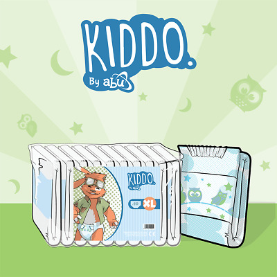 View Details ABUniverse ABU Kiddo Diapers - Pack Of 10 • 21.95£
