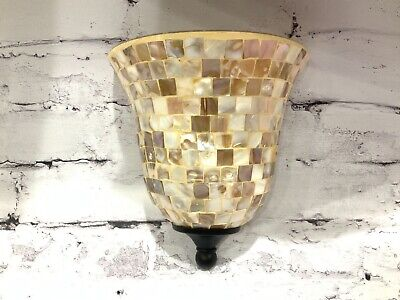 £18.55 • Buy Light Wall Sconce Capiz Shell Abalone Mother Of Pearl Replacement Lamp Shade Urn