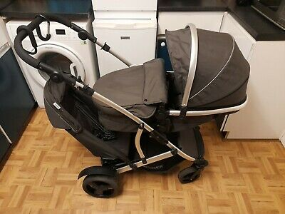 Hauck Duett 2 Tandem Buggy Pushchair With Car Seat • 76£
