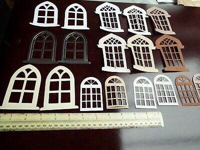 £3 • Buy     12 Mixed Gothic Arch & Opening Fronted Window Frames  Die Cuts