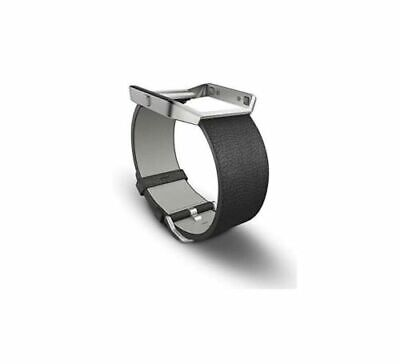 AU27.53 • Buy Fitbit Blaze Accessory Replacement Leather Wrist Band And Frame Black L/G