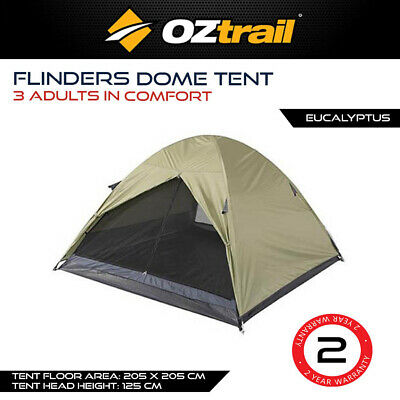AU59 • Buy Oztrail Flinders 3 Person Dome Tent Camping Touring Offroad Family