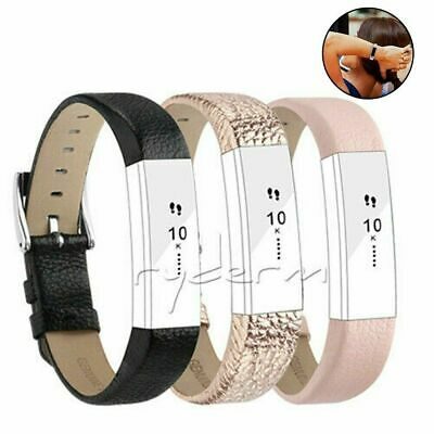AU7.25 • Buy Watch Strap Genuine Leather  Wristband Band For Fitbit Alta Or Alta HR Bracelet
