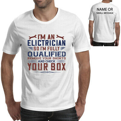 £11.95 • Buy Engineer T-shirt I 'm An Electrician So I'm Fully Qualified Remove Funny Gift