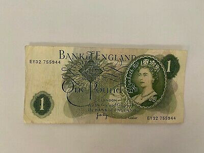 Collectable Bank Of England 1 Pound Bank Note Good Condition • 7.99£