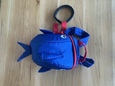 Toddler Blue Fish Shark Backpack With Safety Harness Reins New. • 4.90£