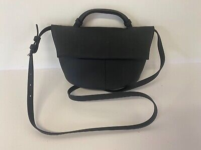 AU11.72 • Buy Kin John Lewis Ladies Black Rubber Shoulder Crossbody Bag Handbag A39