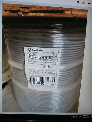 AU1351.61 • Buy 4 AWG Copper THHN THWN-2 Building Wire 600V ,1000 Feet, Gray , Simpull