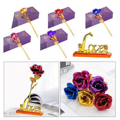 AU5.85 • Buy Forever Rose Artificial Dipped Flower Gift Box Valentine's Day Gift For Her