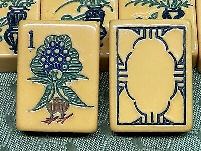 """$400 • Buy 152 Piece MAH JONG Bakelite """"Turkey""""Set With 4 Racks And Case Ready For Play"""