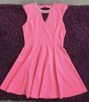 Ladies Coral River Island Party Dress 10 • 5.99£