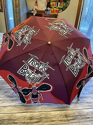 £179.92 • Buy Burberry Packable Print Insects Of Britain Folding Umbrella Rare