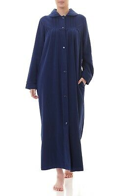 AU79.95 • Buy Ladies Givoni Royal Long Length Button Dressing Gown Bath Robe (99)