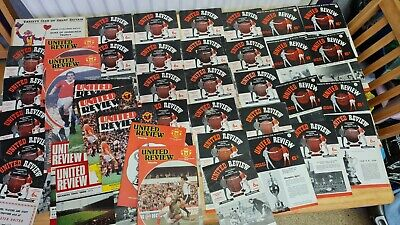 £260 • Buy Vintage Manchester United Football Match Programmes Collection 1950 - 2014