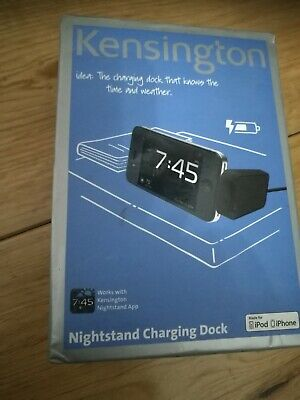 5pcs- Kensington K39258EU Nightstand Charging Dock IPhone 3/4/S IPod • 1£