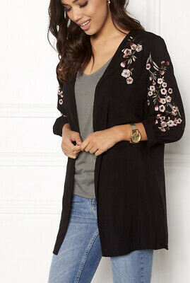AU16.06 • Buy BNWT New Look Black Floral Kimono/Cover Up Size 10