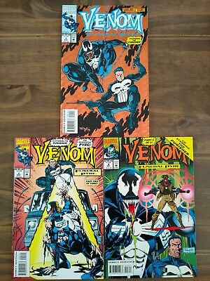 Venom Funeral Pyre #1 - 3 Complete Set - Featuring The Punisher (Marvel - 1993)  • 12.50£