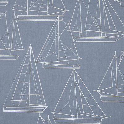 AU13.52 • Buy MASSIVE REMNANT John Lewis Sailing Blueprint Furnishing Fabric - Appx 137cmx1.2M