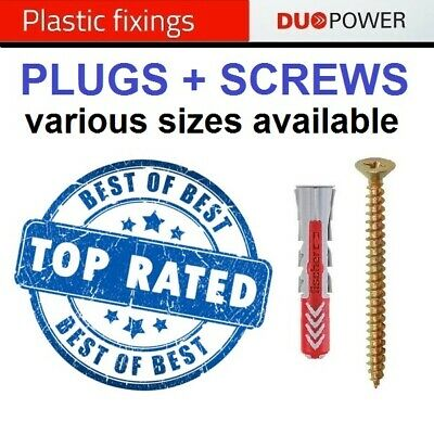 £3.99 • Buy Genuine Fischer Duopower Fisher Universal Wall Plugs Assortment Of 3 Sizes