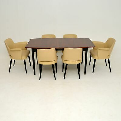 £3400 • Buy Vintage Robin Day Hille Stamford Leather Dining Chairs & Rosewood Dining Table