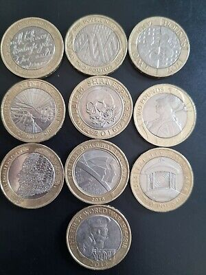 Job Lot/Bundle Of 10 X £2 Two Pound Rare Collectable Coins. All Diff And Vgc • 30£