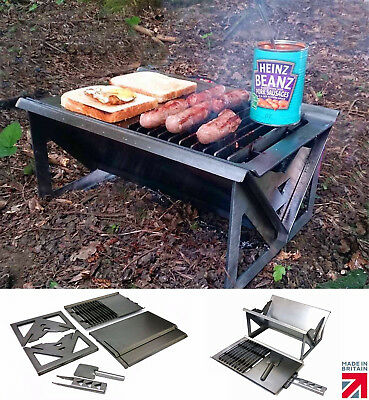 $ CDN86.10 • Buy Folding Charcoal BBQ Cooktop Festival Travel Picnic Beach Camping Overland Grill