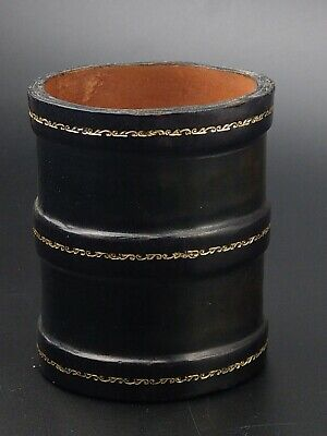 £35 • Buy Vintage Dice Shaker Cup Genuine Calf Leather Made In Italy
