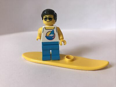 Lego Beach Surfer Minifigure CTY1054 - Exclusive From 40344 & Surfboard, City • 3.29£