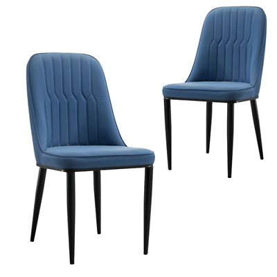 AU394.95 • Buy Stanley Navy Upholstered Dining Chair - Set Of 2