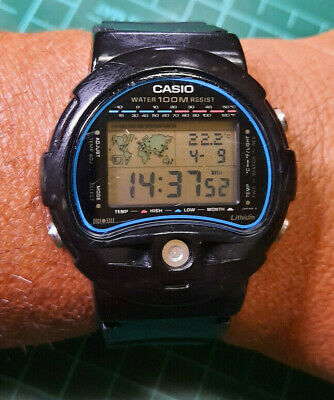 £50.32 • Buy Rare Vintage Casio TS-100 World (815) Time Thermometer Digital Watch Japan T
