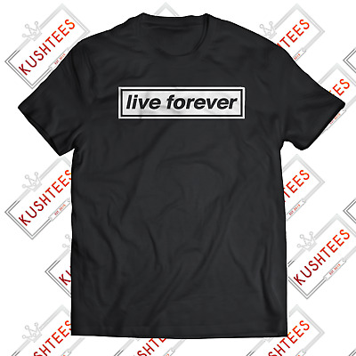 £10.36 • Buy Oasis Live Forever Manchester Madchester Liam Gallagher Indie Music T-shirt