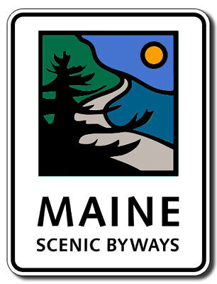 $5.99 • Buy 3x5 Inch Maine Scenic Byways Sign Shaped Sticker (road Travel Me Road Trip)