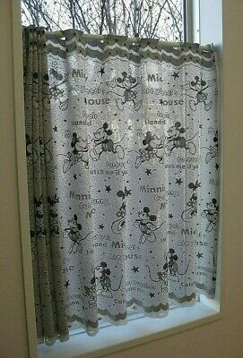 """£19.16 • Buy Disney Mickey Minnie Mouse Polyester Half Cafe Curtain Home Kitchen Window H30"""""""