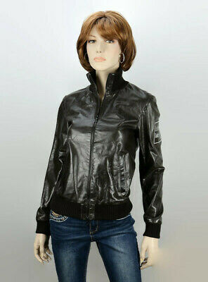 $579.99 • Buy M0851 Womens Celine Dion 'Taking Chances Tour' Crew Jacket Size 4 Brown Leather