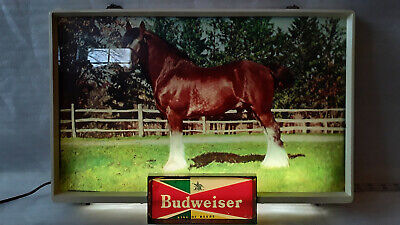 $ CDN495.86 • Buy Vintage Rare 50's Budweiser Clydesdale Light Up Sign Nice Look Works