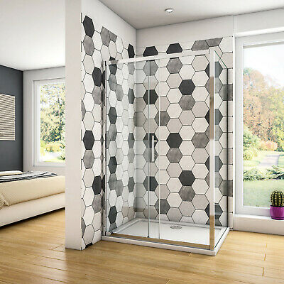 £103.07 • Buy Shower Enclosure Sliding Door Cubicle Side Panel And Tray&Waste  NANO Glass 8mm