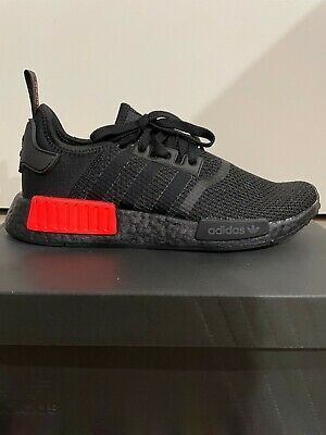 AU99.50 • Buy Adidas NMD R1 Core Black Solar Red BRAND NEW Size 9.5
