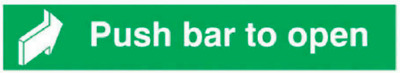 £6.50 • Buy Push Bar To Open Sign Self Adhesive Backing 60cm X 7.5cm