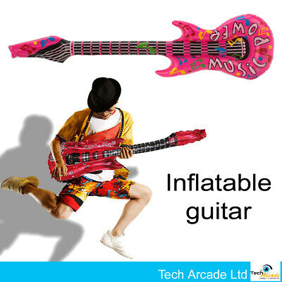 £1.99 • Buy Inflatable Music Instruments Guitar Blow Up Party Prop Fun Balloon Decoration