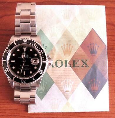 $ CDN12770.11 • Buy Men Rolex Submariner 16610 Oyster Perpetual Automatic Stainless Steel Date Watch
