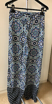 River Island High Waisted Palazzo Trousers Size 8 • 8.99£